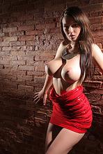 Corinne Wearing Sexy Red Dress 00