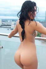 Kara Posing Naked On The Terrace 13