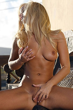 Busty Blonde Miela