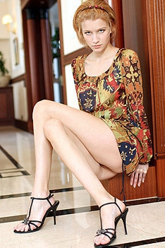 Skinny Blonde Beauty Mila Strips And Poses Nude