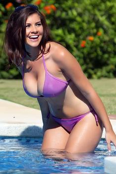Imogen Thomas Doing A Bikini Photoshoot In Spain